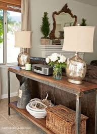 Best  Table Behind Couch Ideas On Pinterest Behind Sofa Table - Living room side table decorations