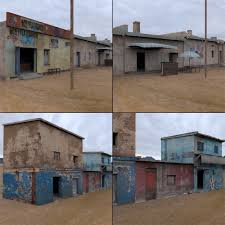 House 3d Model Free Download by Shanty Town Buildings 2 Town Blocks 3d Asset Cgtrader