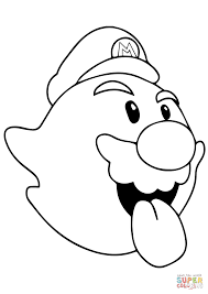 boo mario coloring page free printable coloring pages