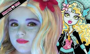 Halloween Barbie Makeup by Lagoona Blue Monster High Doll Costume Makeup Tutorial For