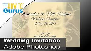 how to design wedding invitation cards in adobe photoshop cc cs6