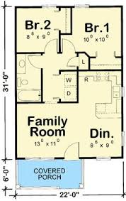 Small Cottage Floor Plan Tiny House Single Floor Plans 2 Bedrooms Apartment Floor Plans