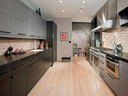 kitchen impressive design galley ideas decoroption industrial galley kitchen with metal cabinet and reclaimed wood floor