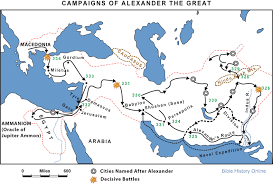 Exodus Route Map by Campaigns Of Alexander The Great Bible History Online