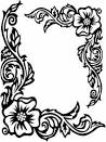 rose border coloring pages