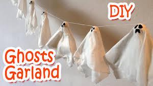 Halloween Decoration Craft Diy Halloween Decorations Ghosts Garland Ana Diy Crafts