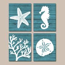 Coastal Bathroom Accessories by Beach Bathroom Wall Art Canvas Or Prints Nautical Coastal