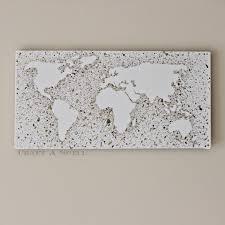 World Map Canvas by Craft A Spell Metallic World Map Splatter Art