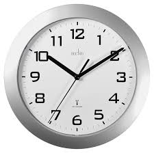 acctim 74367 peron radio controlled wall clock silver amazon co