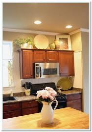 Kitchen Cabinet Top Decor by Decorating Ideas Above Kitchen Cabinets Pin By Terrie Krupitzer
