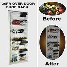 over the door 36 pair wall hanging shoe rack organizer holder