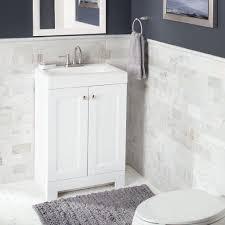 Glacier Bay Bathroom Vanity by Glacier Bay Shaila 24 5 In W Bath Vanity In White With Cultured