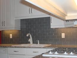 Glass Subway Tile Backsplash Kitchen Gray Glass Subway Tile Backsplash In Kitchen Floor Decoration