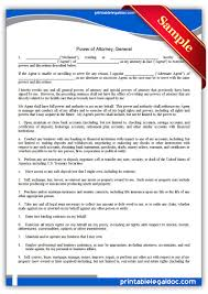 Medical Power Of Attorney Forms by Free Printable Power Of Attorney General Form Generic