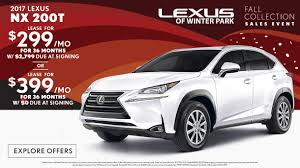 lexus nx s for sale 2017 lexus nx lease special in orlando lexus of winter park