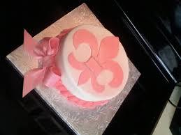fleur de lis baby shower cake cakecentral com
