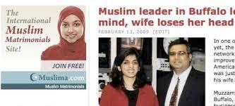 Buffalo Beheading story with ironic Muslim Matrimony ad juxtaposition