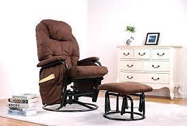ottoman childcare glider rocker chair merax brown luxury suede