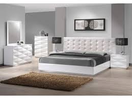 Modern Leather Headboards Bedroom Design Ideas - White tufted leather bedroom set