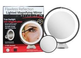 lighted makeup mirror 10x magnifying with 15x bonus mirror
