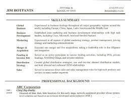 Executive Summary Resume Example Template Skill Summary Resume Free Resume Example And Writing Download