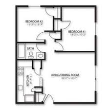 Floor Plan 2 Bedroom Apartment Two Bedroom 24x24 Plan Mostly Small Houses Pinterest Cabin