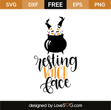 witch silhouette png resting witch face lovesvg com