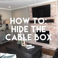 Hidden Cable Tv Wall Mount How To Hide The Cable Box Cable Box Cable And Box