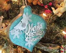 Christmas Tree Ideas 2015 Diy Craft Klatch Glitter Resin And Metal Christmas Ornament Diy