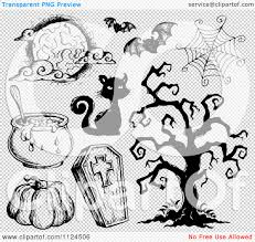 black and white halloween backgrounds clipart of sketched black and white halloween items 2 royalty