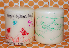 last minute mother u0027s day gift kids artwork candles happiness is