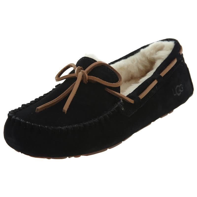 Ugg Dakota Leather Black Ankle-High Suede Slipper 5M