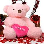 Gigi Love Chubs with I LOVE YOU Heart Huge Pink Teddy Bear 55in - Gigi-Love-Chubs-pink-teddy-bear-with-heart-55in__50384_zoom