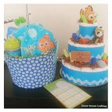 Finding Nemo Centerpieces by Finding Nemo Diaper Cake And Gift Basket Homesweetcrafting Com