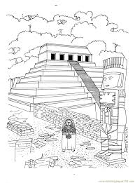 temple of inscriptions in palenque coloring page free
