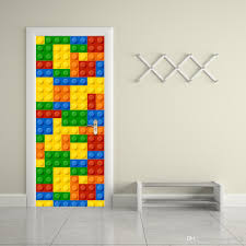 the lego blocks door stickers 3d pvc self adhesive wallpaper the lego blocks door stickers 3d pvc self adhesive wallpaper waterproof door decoration stickers for bedroom walls removable stickers for decorating walls