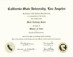 Professional Administrative Resume  california state university     california state university los angeles