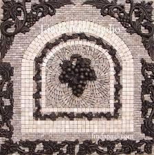 Kitchen Backsplash Mural Stone by Grapes Mosaic Tile Medallion Kitchen Backsplash Mural Mosaics