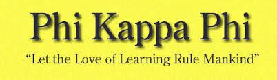 Phi Kappa Phi yellow banner