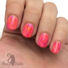 neon electric splash nails sinful colors black cat nails