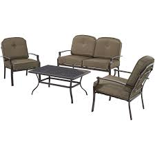 Patio Furniture Lowes Canada - mainstays wentworth 4 piece patio conversation set seats 4