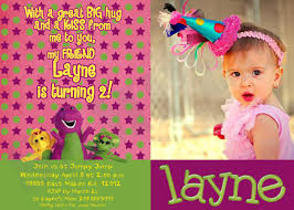 1st Birthday Decoration Ideas At Home Barney Party Invitations Print At Home Diy Party Ideas