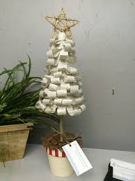 vintage book page christmas tree the curators collection