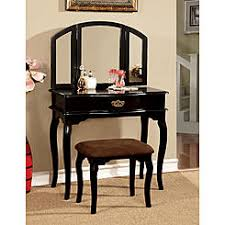Linon Home Decor Vanity Set With Butterfly Bench Black Furniture Of America Bedroom Vanity Sets Sears