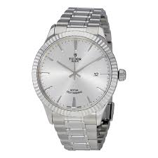 Tudor Style by Tudor Style Silver Dial Automatic Men U0027s Stainless Steel Watch