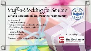 Stocking Stuff Stuff A Stocking For Seniors Amherstburg Community Services