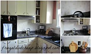 Inexpensive Backsplash Ideas For Kitchen Frugal Ain U0027t Cheap Kitchen Backsplash Great For Renters Too