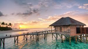 houses honeymoon bungalow maldives water villa conrad sunset