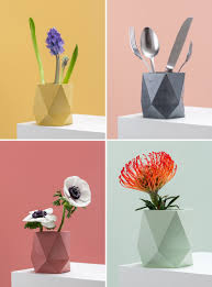 Simplicity Home Decor These Colorful Concrete Planters And Vases Add A Geometric Touch