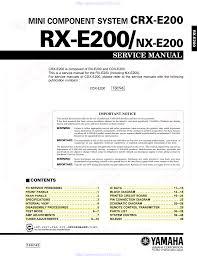 yamaha cdx e200 service manual